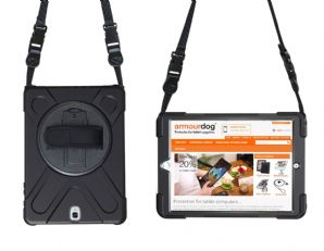Rugged case for Samsung Tab A 10.1 T510 T515 hand/shoulder strap, kick stand & screen protector